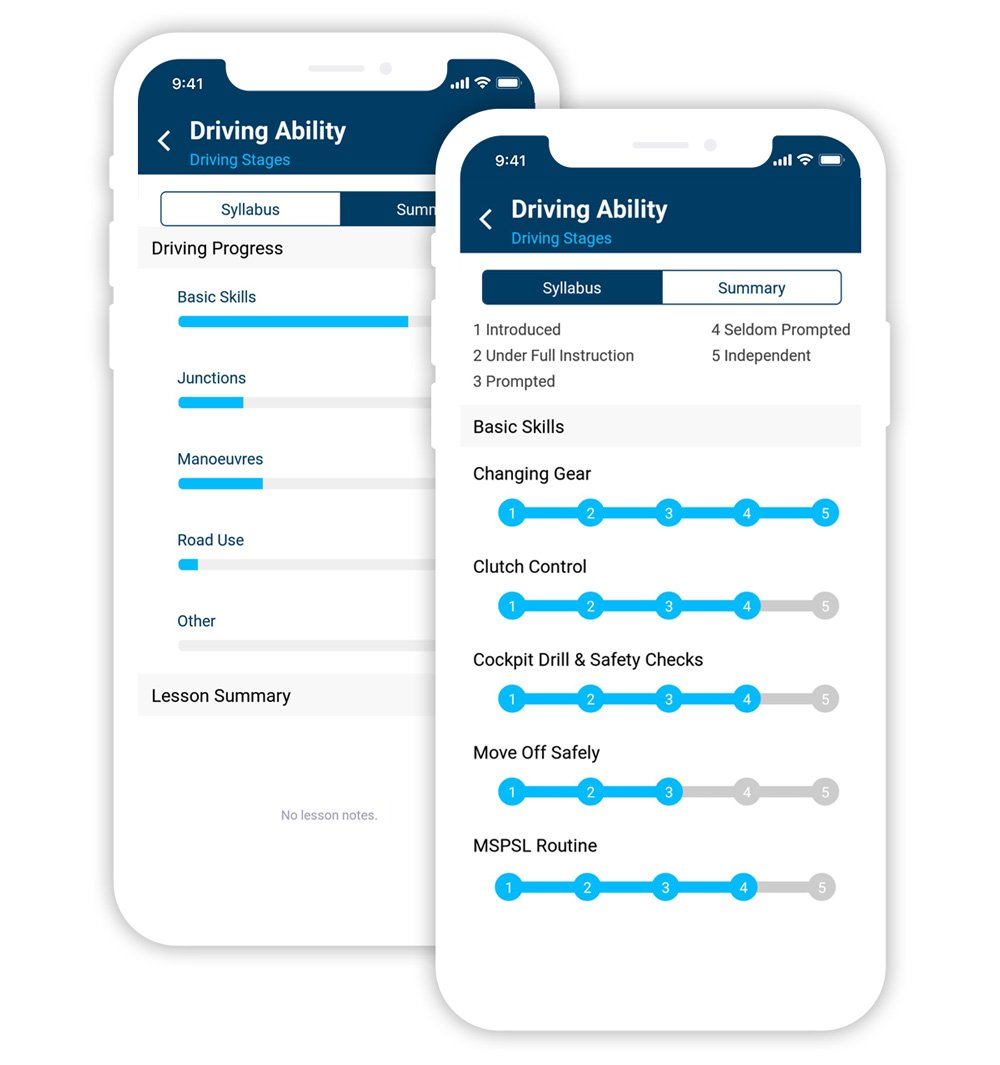 HSM Total Drive app allows you to monitor your Driving Lesson Progress